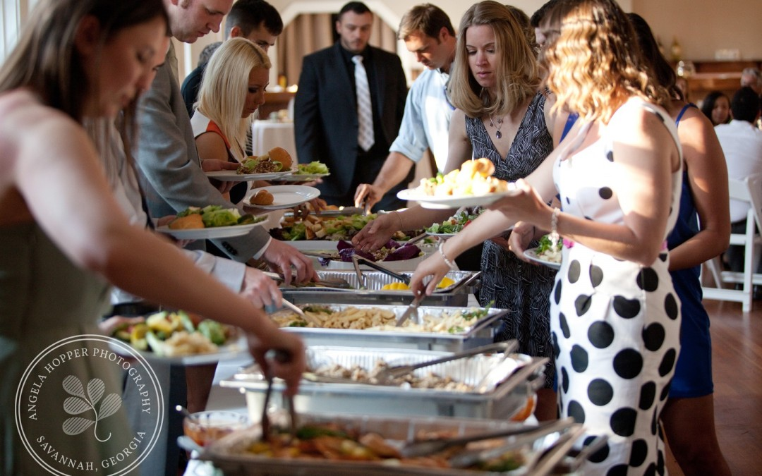 Buffet Line Wedding